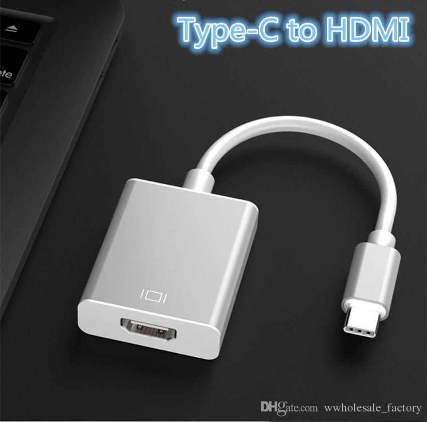 Cell Phone PC Laptop Mirror Mode Extend Mode USB-C to HDMI Adapter Cable USB 3.1 Type C to HDMI Male to Female Converter Laptop Connect PC