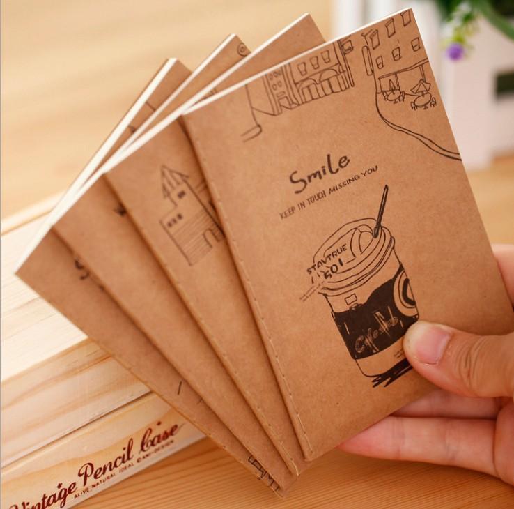 دفتر ملاحظات عتيق نسخة 60k صغيرة Notepad Kraft Paper Notebook الطلاب الهدايا المحمولة