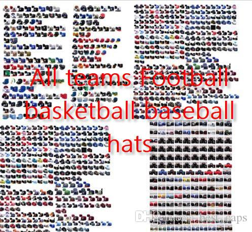 Wholesale 32 teams football snapbacks America basketball baseball Snapback hats fitted adjusted caps fitted hats men women 10000+hats