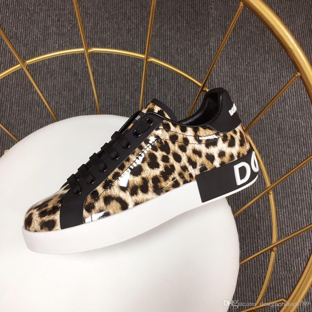 2020 새로운 캐주얼 신발 베스트셀러 여자 신발 패션 여자는 상자 배송 평평한 운동화 슈퍼 스타 테니스 신발을 인쇄 표범