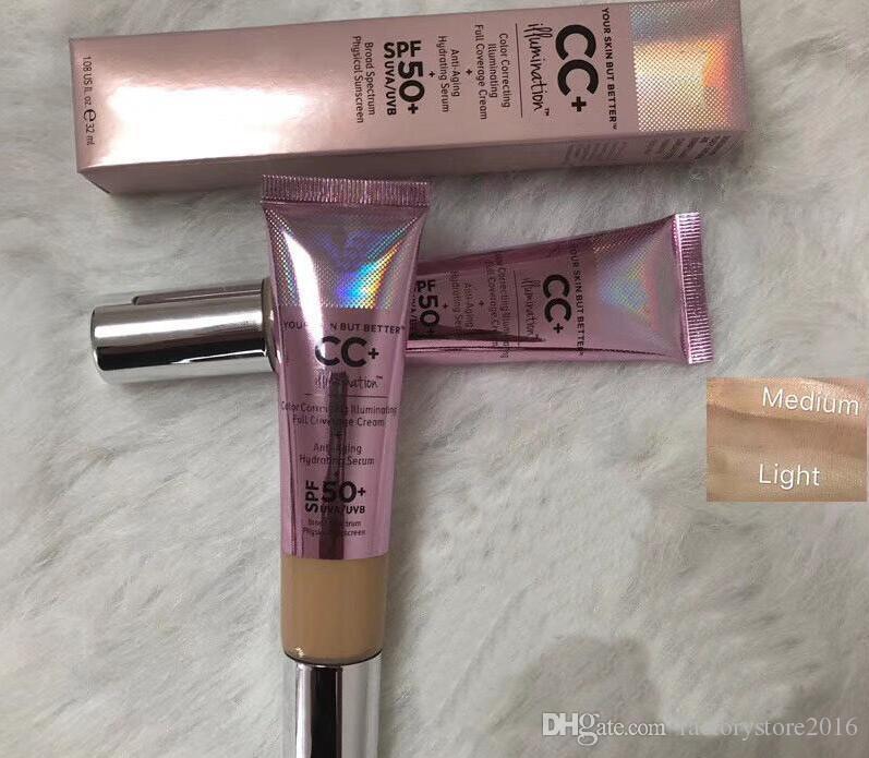 أعلى جودة CC كريم بشرتك ولكن أفضل CC + كريم تصحيح لون كريم التغطية الكاملة 32ML شحن مجاني
