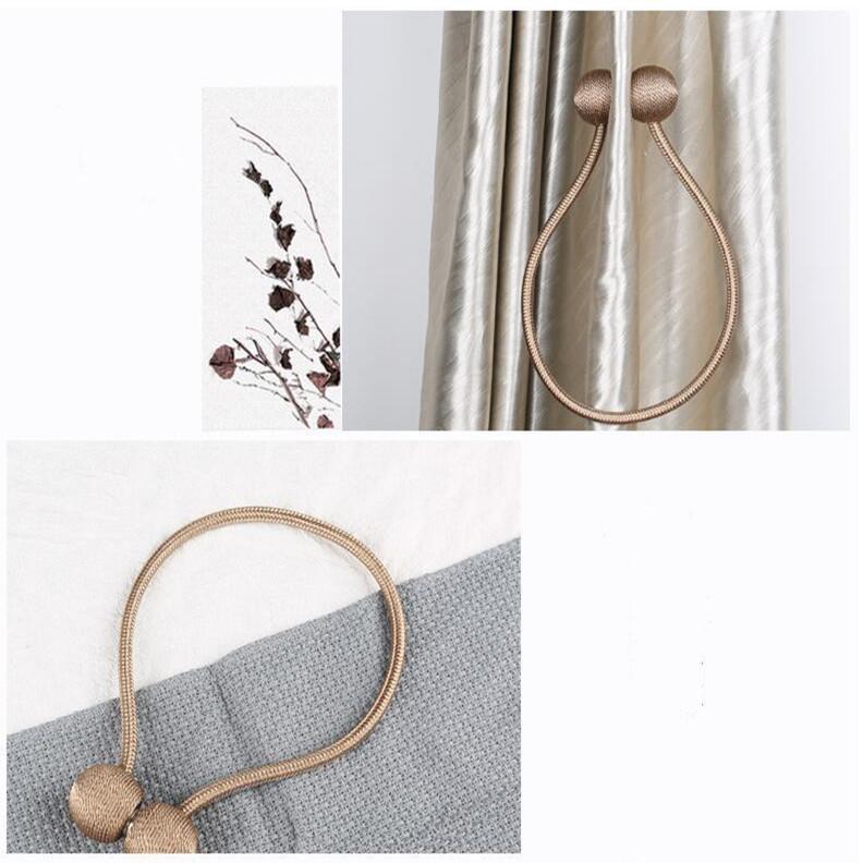 Magnétiques rideau Embrasses Drapé corde Retenues pour l'aimant boucle Panels Sheer Chambre corde Bracelet Home Decor YSY360