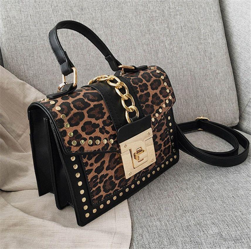 Padrão Leopard pequeno Square Nova Estilo Moda Mulher Impressão Mulheres Ombro Saco versátil Messenger Bag PH-CFY20052553