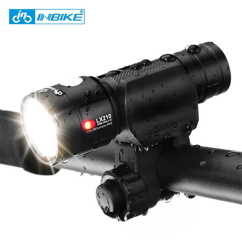 INBIKE 1000 Lumens Bike Light Ultra-Bright Ultralight Bicycle Front LED Flashlight Lamp USB Rechargeable Torch 18650 Battery T190926