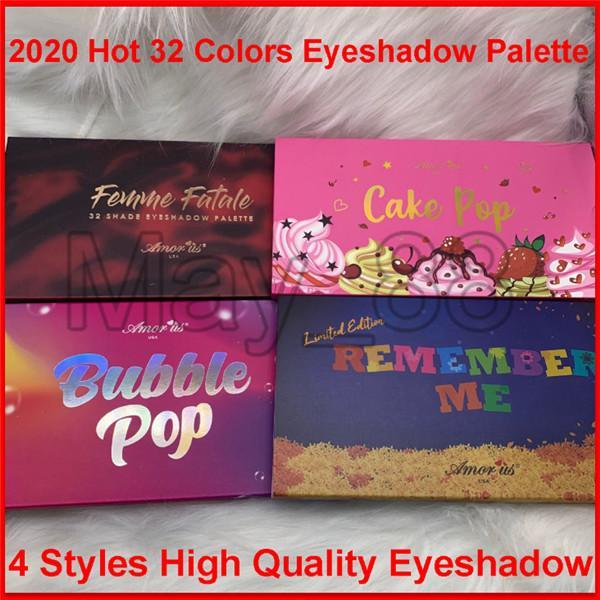 2020 Yeni Amorus Beni Hatırla Coco Kabarcık Pop 32 Renk Göz Farı Paleti Glitter Mat Göz Farı Makyaj Uzun Ömürlü Renk Tonu Su Geçirmez Göz Farı