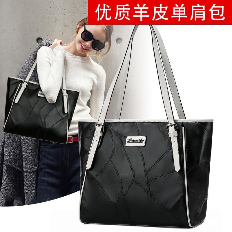 Charm2019 Bag Concise Joker Sheepskin Will Capacity Single Shoulder Soft Leather Bale Portable Mom Package