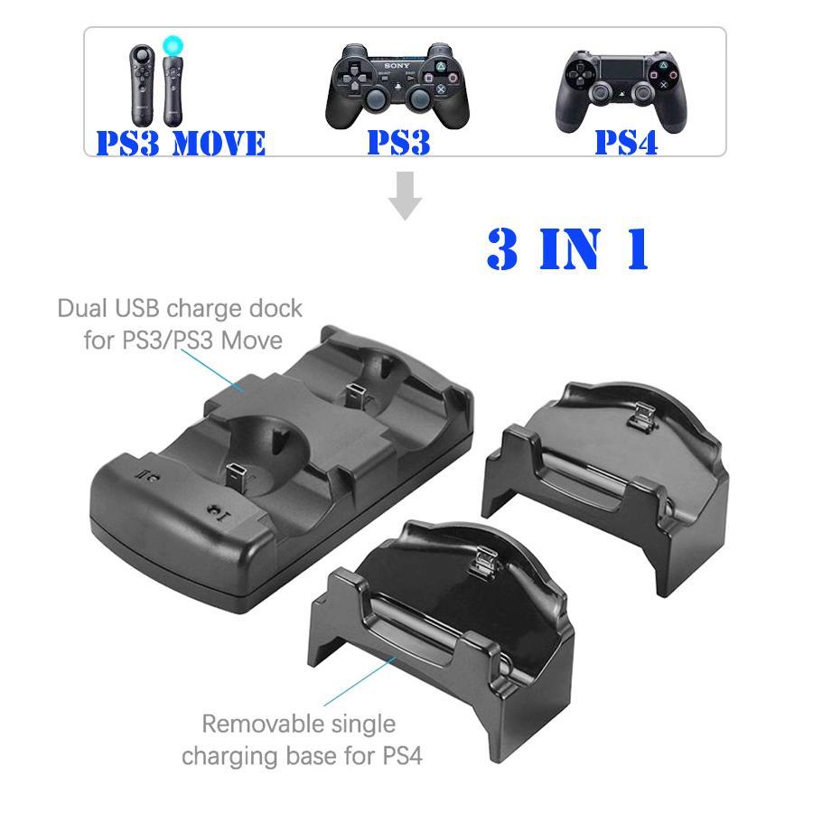Compre Soporte Para Cargador De Estación De Carga Multifuncional Yoteen 3 En 1 Para Sony Playstation 4 Ps4 Ps3 Ps3 Move Con Indicador Led A 3 78 Del Monkotech Es Dhgate Com