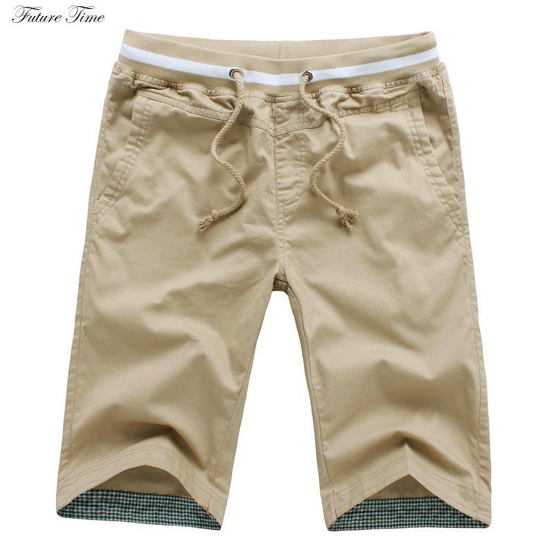 2019 hommes pantalons courts d'été homme shorts, plus la taille de la mode décontractée style lâche couleur unie coton pantalon C1826