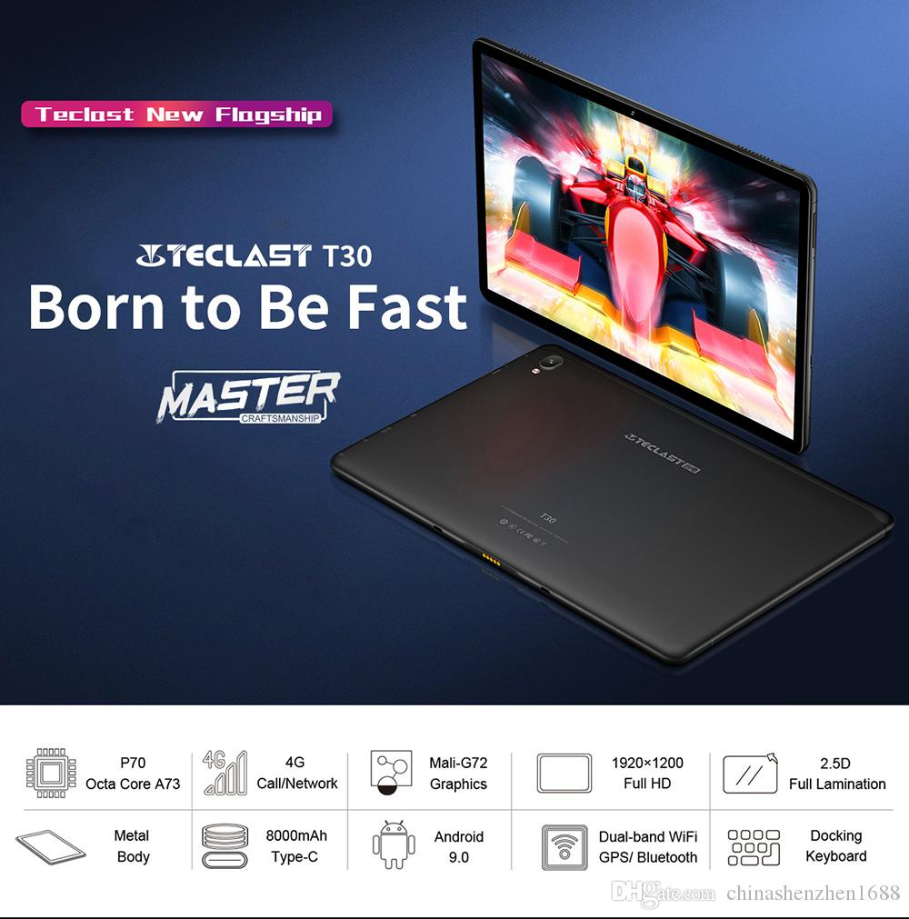 Teclast T30 tablet 10.1 inch android 9.0 4GB RAM 64GB ROM tablets MTK Helio P70 Octa Core GPS Dual WiFi cameras BT4.1 tablet pc