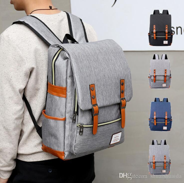 Nylon+Canvas Schoolbag Male and female shoulder bags High-capacity Computer package Leisure backpack Unisex Multifunctional outdoor 2118