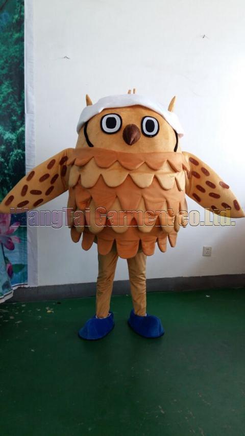 Neue reizende Eulen-Maskottchen-Kostüm Erstklassig deluxe Zeichentrickfigur Kostüm Brown Owl Maskottchenklage Abendkleid Partei Karneval-freies Verschiffen