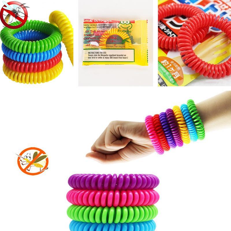 Mosquito Repllent Bracciale Stretchable elastico spirale bobina mano Wrist Band braccialetto anti-zanzara Wristband per caccia pesca A5905