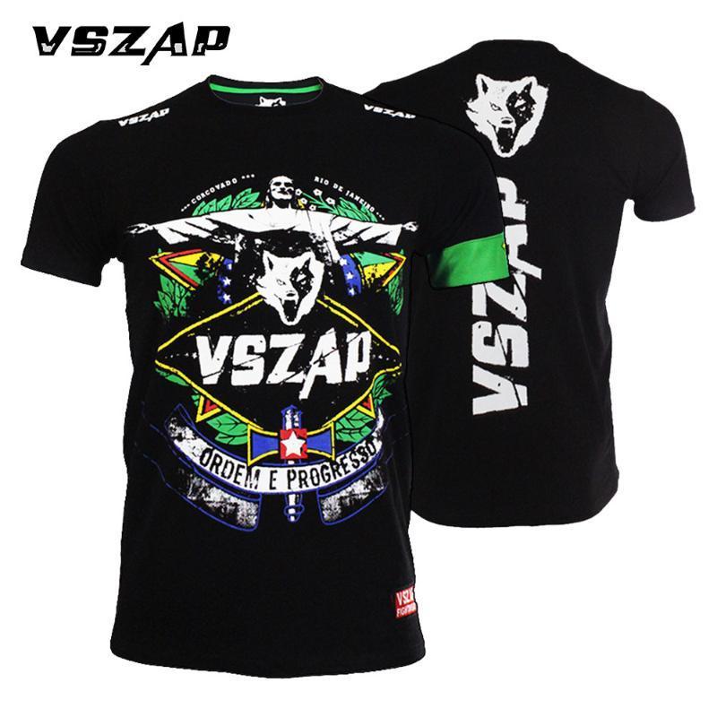VSZAP Vêtements de sport T-shirt de boxe T-shirt homme respirant Short en coton Lutte Muay Thai Thai Boxing Short kickboxing