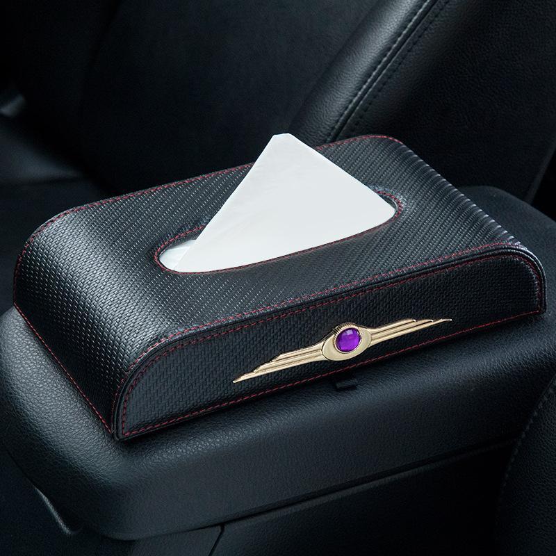 caja de pañuelos coche caja de la servilleta creativa coche put