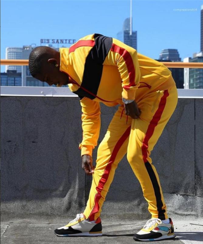 Cardigan Long Sleeve Mens 2PCS Sets Gym Casual Mens Clothing Sport Panelled Designer Mens Tracksuits Slim
