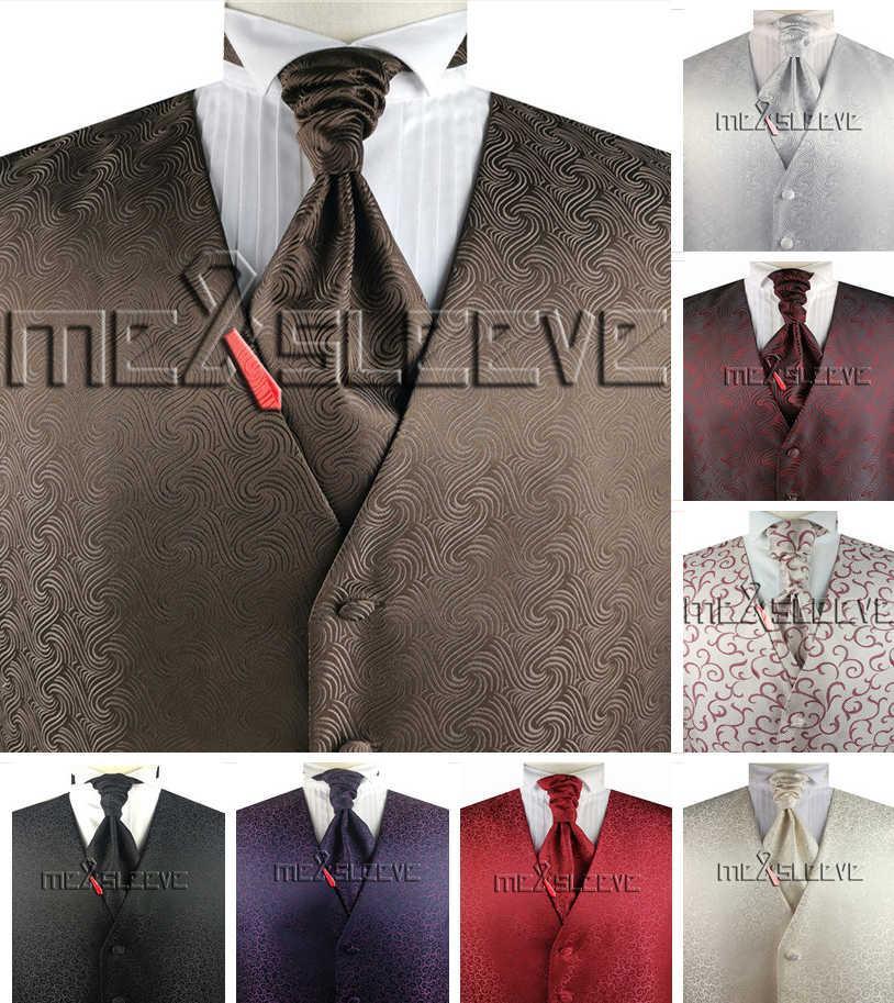 vestito / sposa su misura su misura set gilet (vest + plastron + fazzoletto)