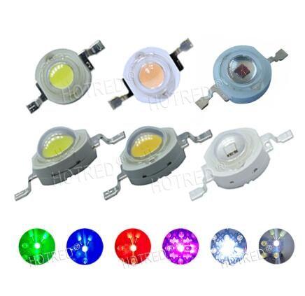스포트 라이트 다운 라이트 램프 전구에 대한 10PCS 1W 3W 높은 전원 LED 발광 다이오드의 LED 칩 SMD 따뜻한 흰색 빨간색 녹색 파란색 노란색