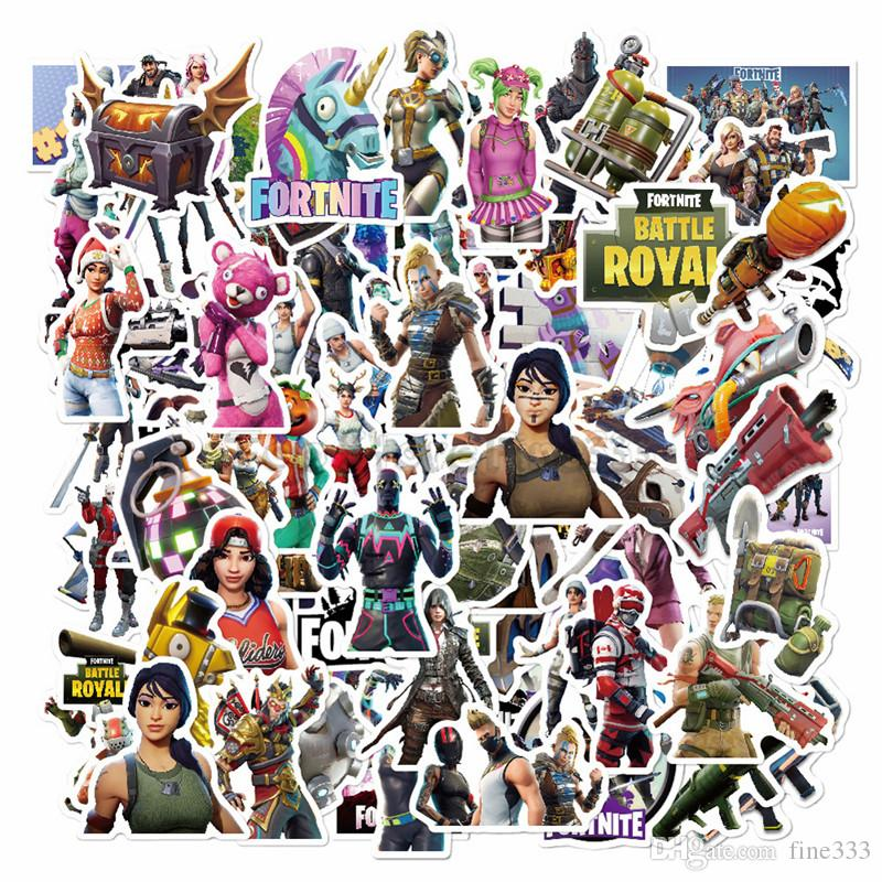 100pcs Mixed Fort Nite Cartoon Toy Stickers per auto styling bici moto telefono portatile viaggio bagaglio fresco adesivo divertente bomba JDM decalcomanie
