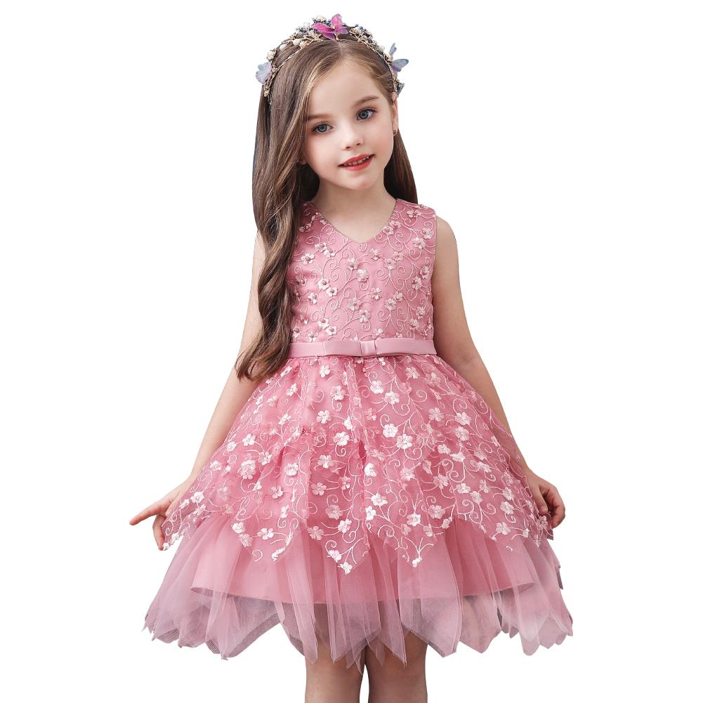 Goldenshield New Style Kids Flower Girls Dress Ball Gown For 7 7