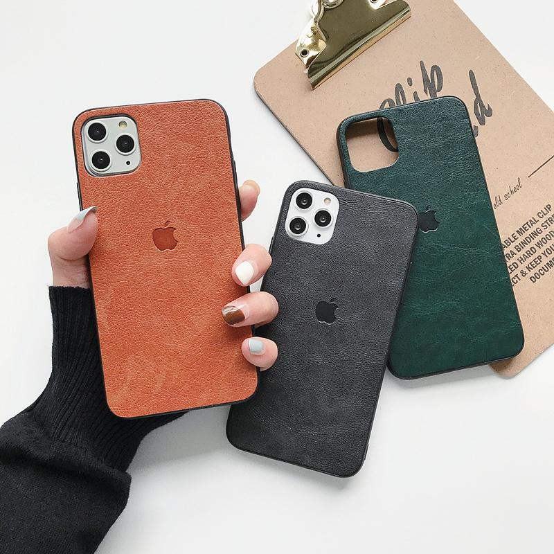 One Piece luxury phone case For iPhone 7 8P XR XS MAX 11PROMAX fashion Pure color Leather designer back cover for gifts