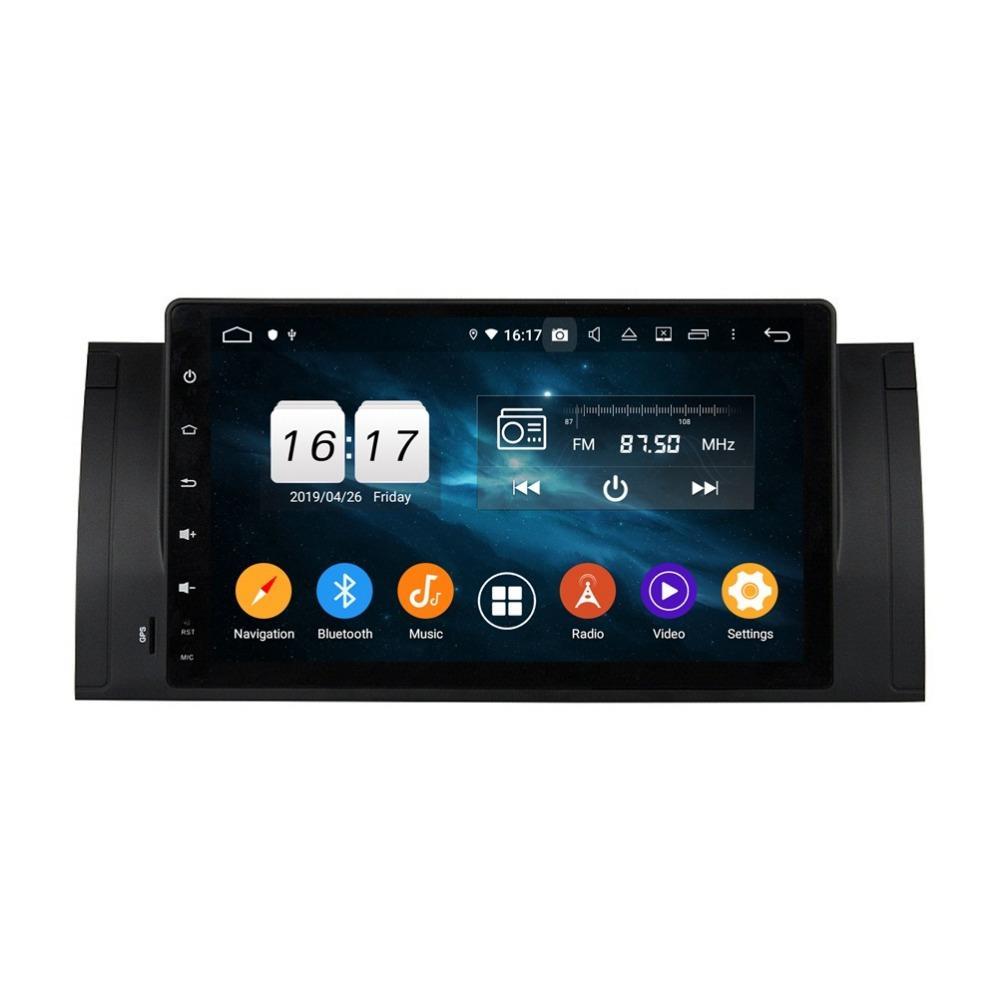 """DDSP Android 9.0 Octa Core 9"""" Radio Car Audio DVD GPS DVD del coche para BMW M5 E39 X5 E53 4 GB de RAM Bluetooth 4.2 WIFI 32GB ROM USB DVR OBD"""