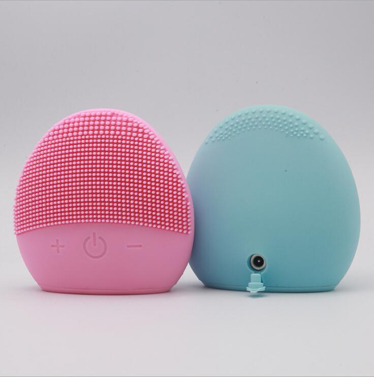 Silicone Viso Spazzola di pulizia profonda pori pulizia Tools cura di pelle elettrica Facial Cleanser impermeabile Viso elettronico pennello in silicone