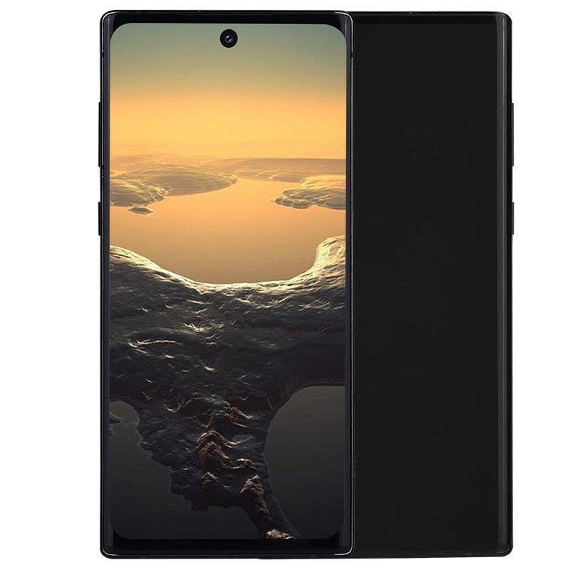 """아우라 글로우 Goophone N10 + 6.8 """"펀치 구멍 화면 안드로이드 9.0 얼굴 ID 지문 표시 옥타 코어 12기가바이트 2백56기가바이트 5백12기가바이트 16MP 3 카메라 세대 스마트 폰"""