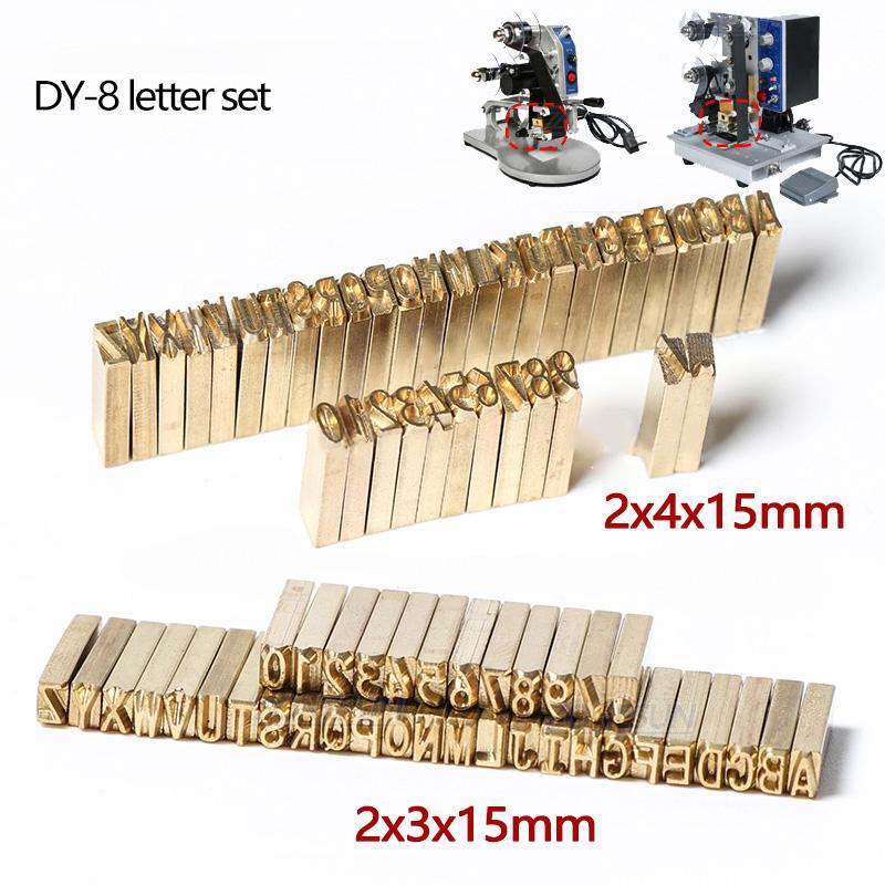 DY-8 / HP-241B / LT-50D carta número definido conjunto MT-50 carta para código de máquina de impressão de carimbo quente de peças de reposição de expiração Código Máquina de impressão