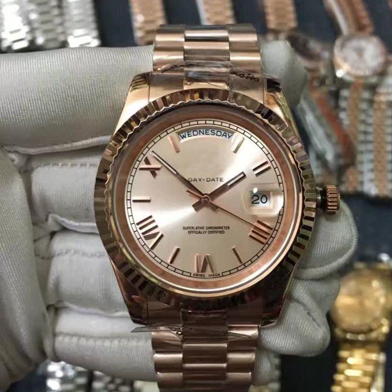 럭셔리 Mens 시계 스위프 초침 기계식 자동 태엽 자동 날짜 남성 스포츠 시계 디자이너 시계