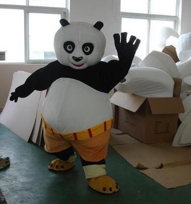 Kung Fu Panda Traje Da Mascote Dos Desenhos Animados Traje Do Personagem Kungfu Panda Dress up Costume Adulto Tamanho