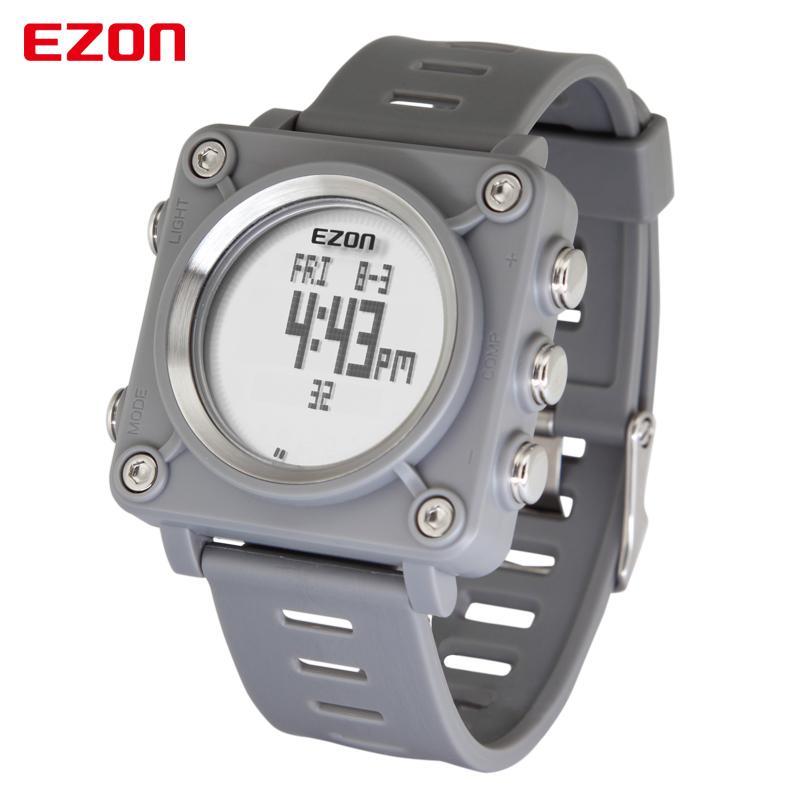 EZON L012 высокое качество мода повседневная Спорт цифровые часы Спорт на открытом воздухе водонепроницаемый компас секундомер наручные часы для детей