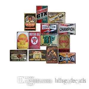 20 * 30 centímetros de metal Placas de lata Vintage 56styles decoração da parede AUTOS Carros Pinturas Ferro Car Tin Plate Pub Bar Garagem Decoração AAA1627