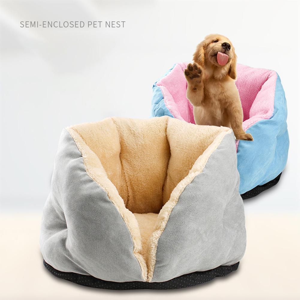 Warm Allevamento gatto dorme Nest Bag Plush Piccolo cucciolo Pet sofà del gatto del cane Inverno Bed