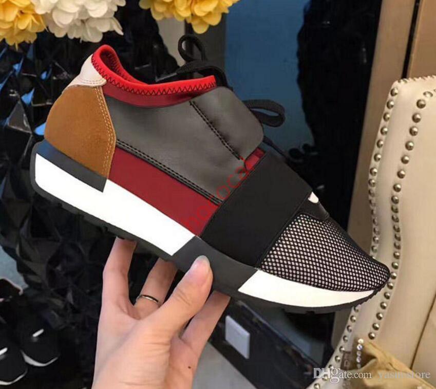 2020 Yeni renk Popüler Tasarımcı Yüksek Kalite Adam Kadının Moda Low Cut Lace Up Nefes Mesh Sneaker Ayakkabı Dış Mekan yarışı Runner Casual