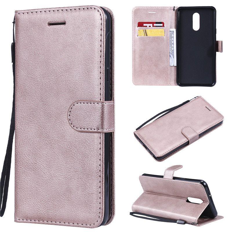 Mobiltelefonfälle für LG K40 / K12 Plus / Stylo 5 Hülle Flip-Abdeckung Brieftasche Ständer Reine Ledertaschen OnePlus 7 / 6T / 7PRO