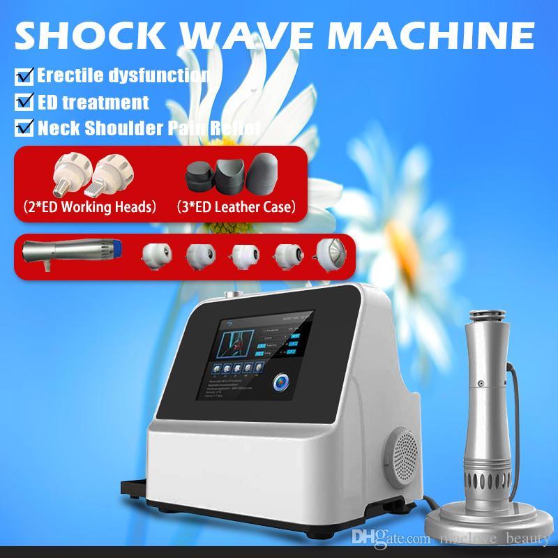 2019 YENI Protable Şok Dalga Terapi Cihazı Ortopedi / Akustik Radyal ESWT Erektil disfonksiyon için düşük yoğunluklu makine 200mj
