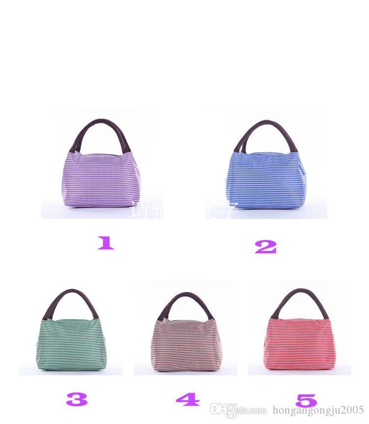 Nouveau style coréen simple, isolation sac portable déjeuner de haute qualité en tissu Oxford paquet boîte à lunch multifonction vente directe d'usine