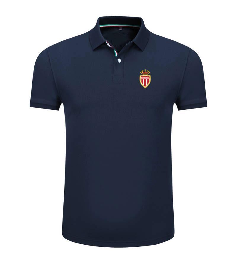 Монако 2020 весна и лето новый хлопок футбол поло рубашка мужская с короткими рукавами лацкан унисекс поло может DIY пользовательские мужские рубашки поло