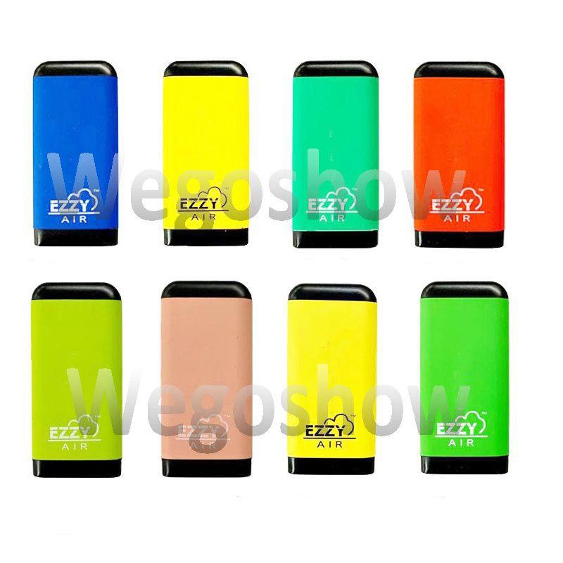 8 개 스타일 EZZY AIR 처분 할 수있는 장치 포드 Vape 펜 2.7ml 기화기 500 퍼프 Vape 펜 E-담배를 플러스 타원형 엑스트라 펜
