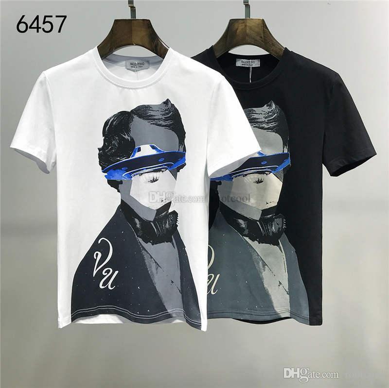 2020 SS Yeni Geliş Üst Kalite Valen Giyim Erkek Tişörtleri 6457 Tees Kısa Kollu M-3XL yazdır