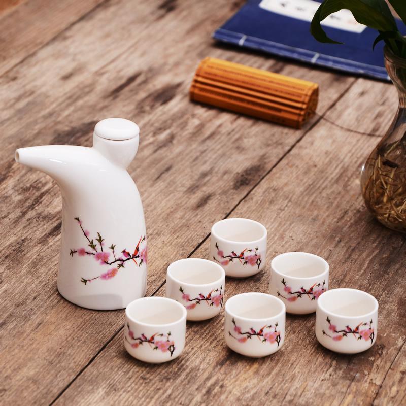 Christmas 2020 Liquor Sets 2020 Vintage Ceramics Sake Set Japanese Porcelain Wine Set Kitchen