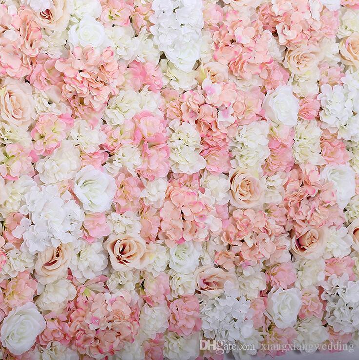 الاصطناعي زهرة الجدار 60x40 سنتيمتر روز هيدرانجيا لوحة خلفية الزفاف خلفية ل حفل زفاف لوازم الديكور العملاء