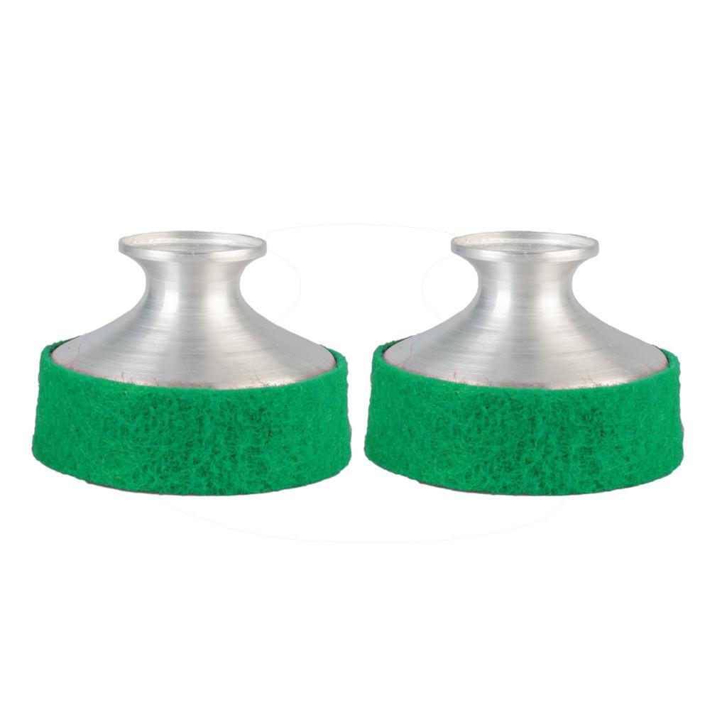 NAOMI 2PCS 연습 라이트 웨이트 알루미늄 색소폰 음소거 소음기 Alto Saxophone 용 Sax Dampener Green