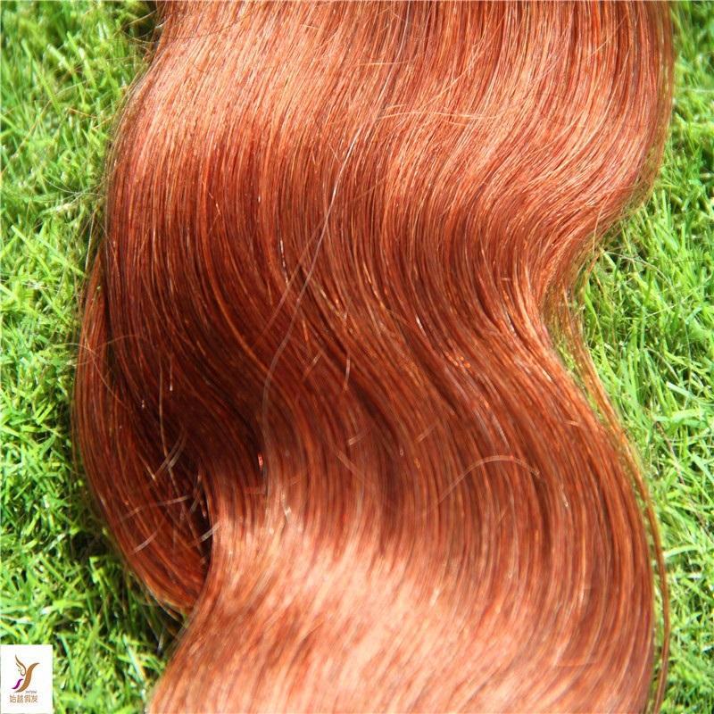 Blonde Farbe Haut einschlagRemy Menschenhaar-Körper-Wellen-Band in Verlängerung Remy Haar-Band-Haar-Verlängerungen 10-36 Inchs
