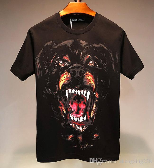 Mens Designer Summer T-shirt de luxe Hommes Femmes Impression Casual personnalisé Dog Head manches courtes T-shirt de coton de haute qualité T-shirts Chemise