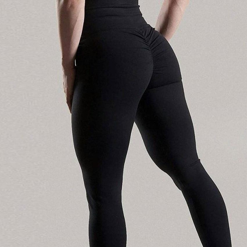 Frauen-Gamaschen-Polyester-Qualitäts-hohe Taillen-Push Up elastische beiläufige Workout Fitness Sexy Hosen Bodybuilding Legging Kleidung T200103