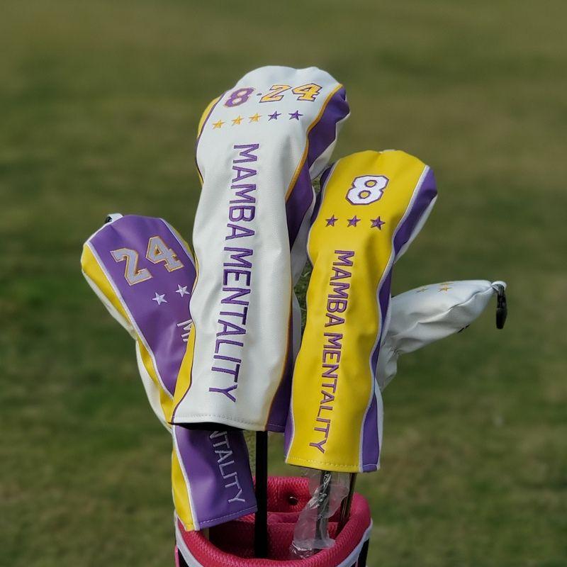 Sınırlı Üretim Mallet Putter'in Hibrid Sürücü Fairway Wood Başörtüsü Yeni Golf Kulübü Mallet Putter Sürücü Başörtüsü Basketbol Numarası 24/08 Kapak
