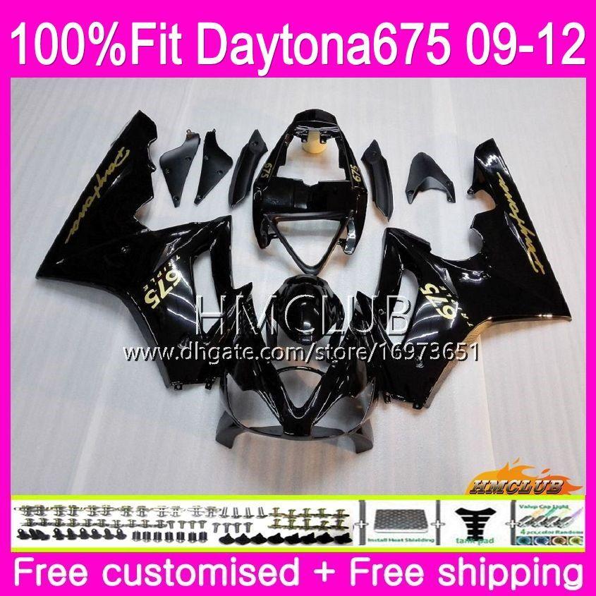 Injection For Triumph Daytona 675 09 10 11 12 Bodywork 44HM.0 Daytona-675 Daytona675 Daytona 675 2009 2010 2011 2012 Fairing Glossy black