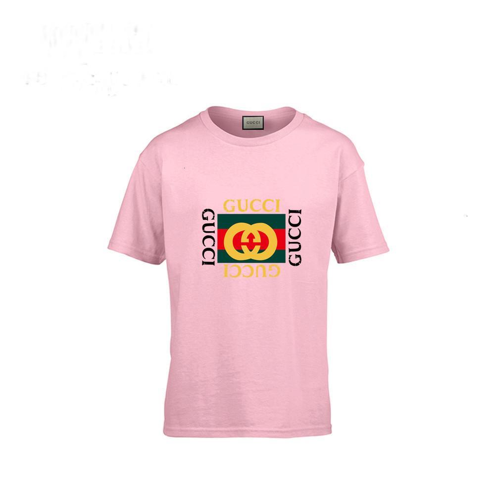 2019 Kinderkleidung Kinder Kurzarm T nette Marke T-Shirt aus reiner Baumwolle Mädchen Junge Jacke Ganzen 010502