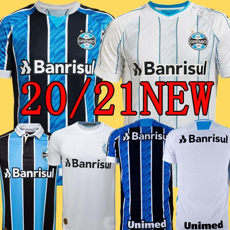 2020 2021 جريميو المنزل GEROMEL ايفرتون أفضل لكرة القدم الفانيلة 20 21 جريميو حارس المرمى الأصفر قميص KANNEMANN وان الأبيض لكرة القدم
